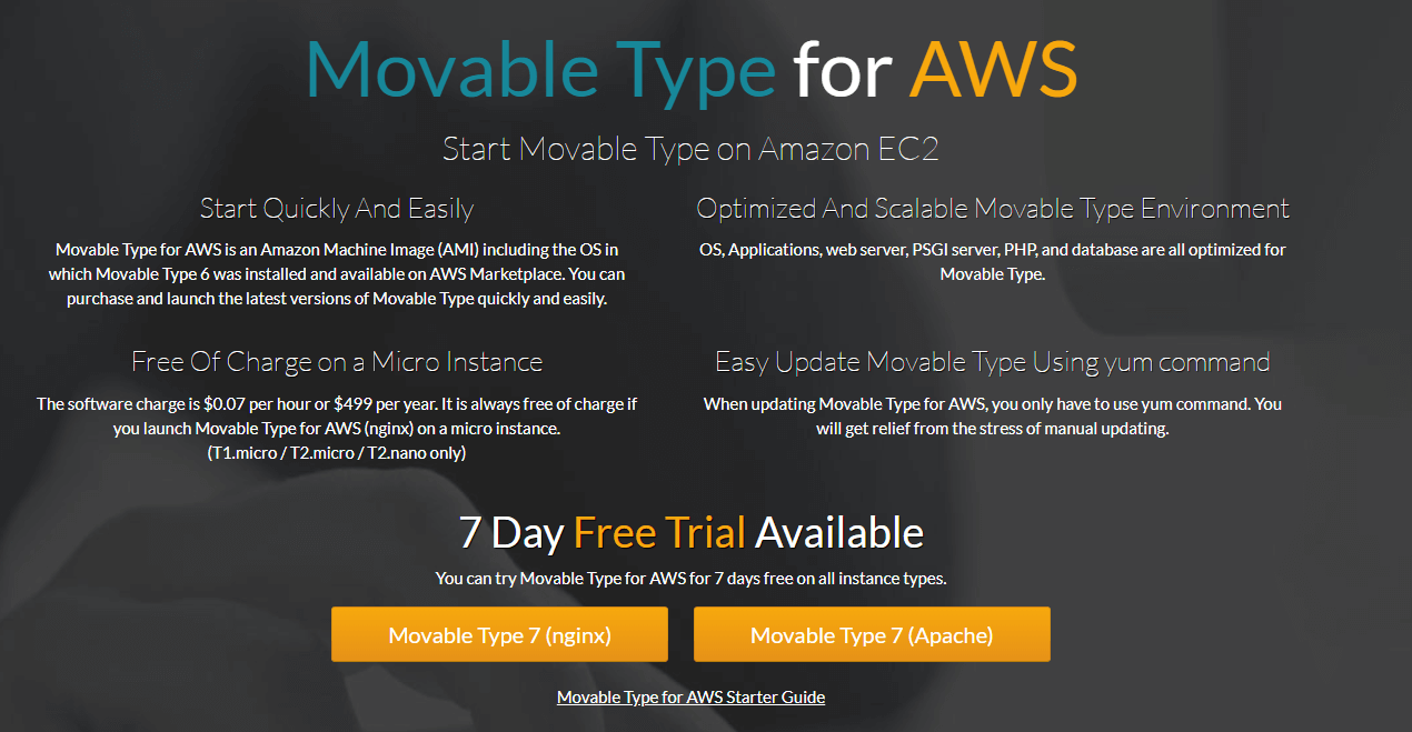 Installing Movable Type using AWS.