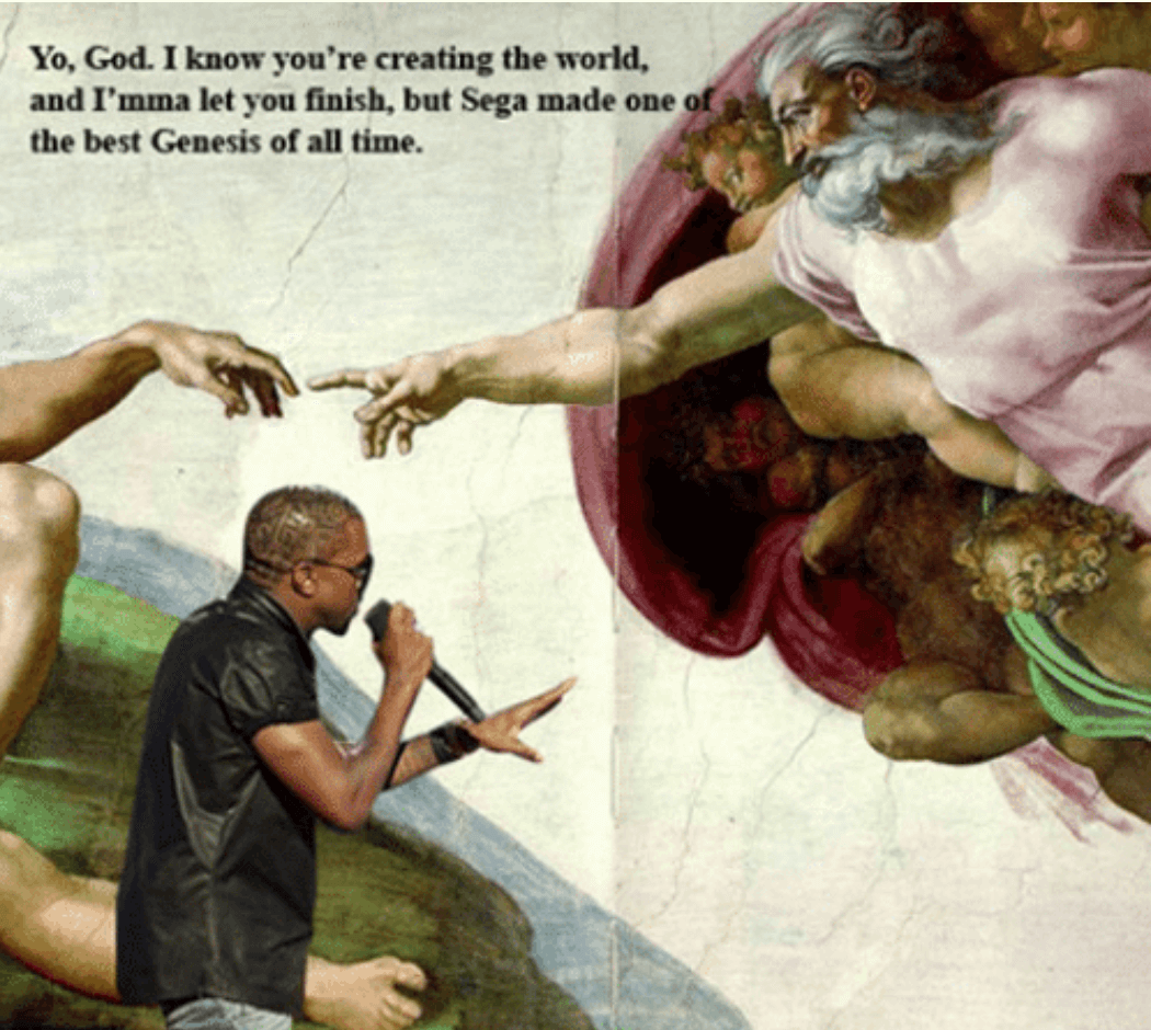 A meme referencing Kanye West.