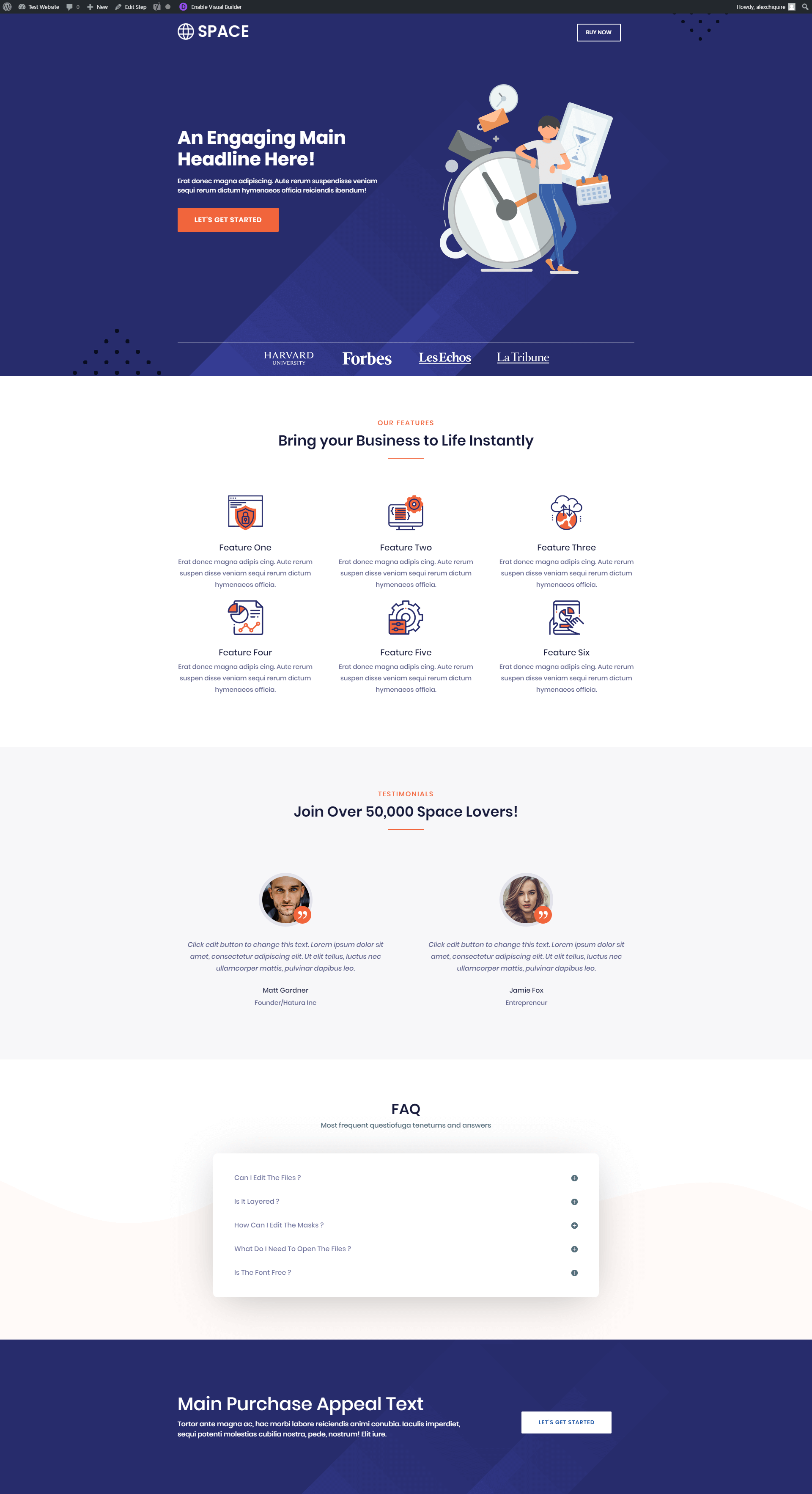 A landing page template from CartFlows.