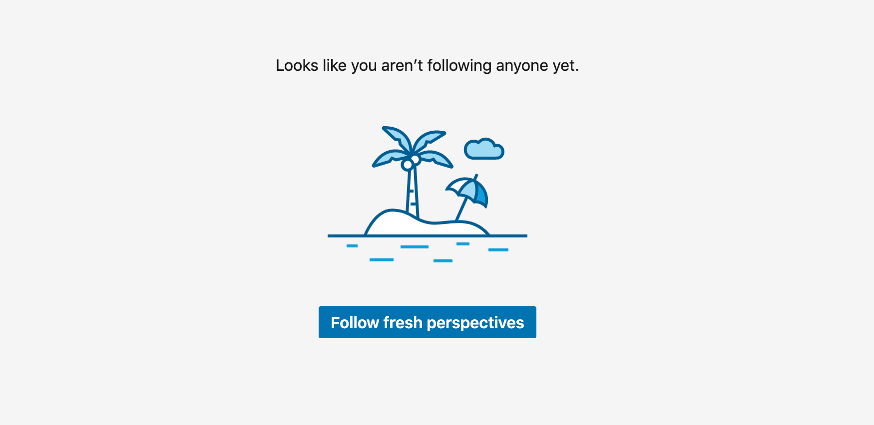 The Follow Fresh Perspectives button in LinkedIn.