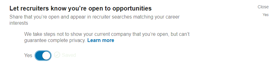 Open job opportunities in LinkedIn.