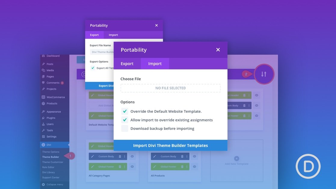How to Use Divi's Theme Builder Portability (Import & Export) Features