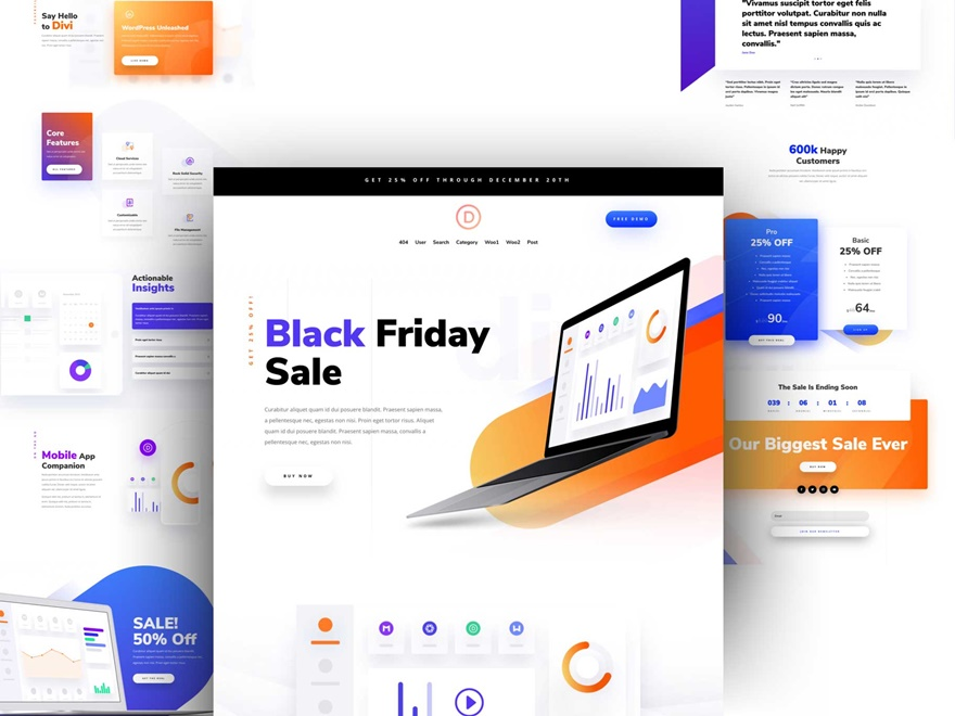 landing page layout pack