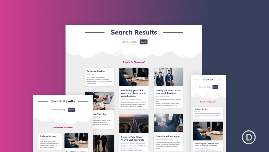 How to Create a Search Results Page Template in Divi