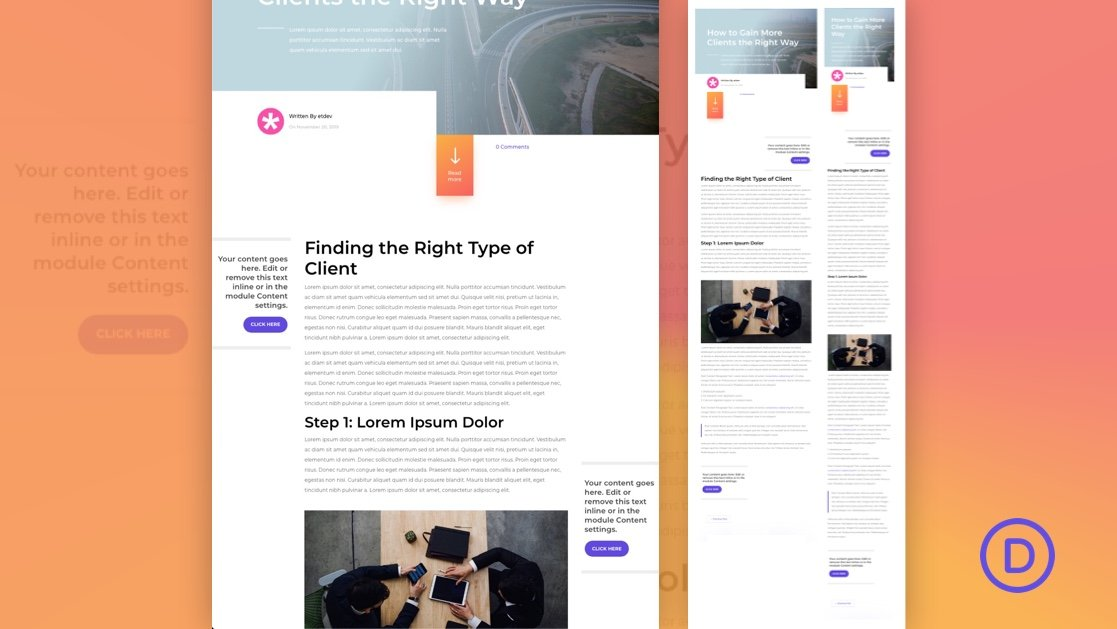 How to Add Sticky Sidebar CTAs to a Blog Post Template in Divi