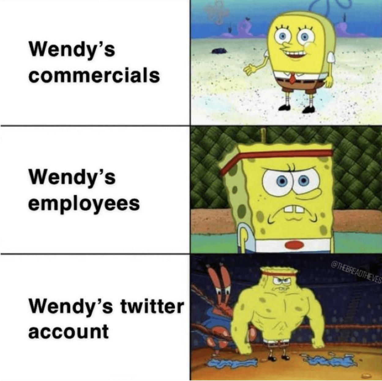 A Wendy's meme referencing Spongebob.