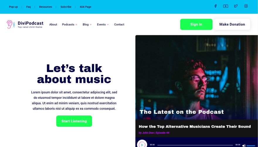 Divi Podcast preview image