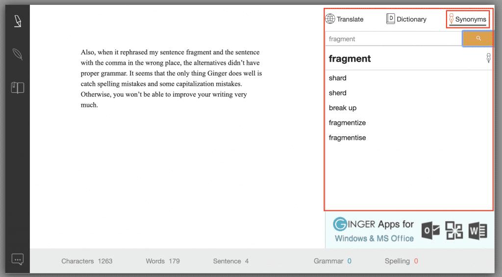 ginger grammar