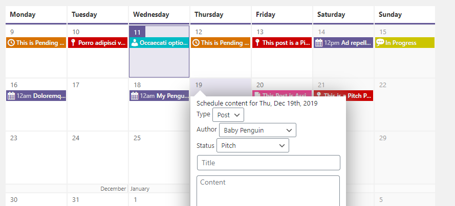 Scheduling content via PublishPress.
