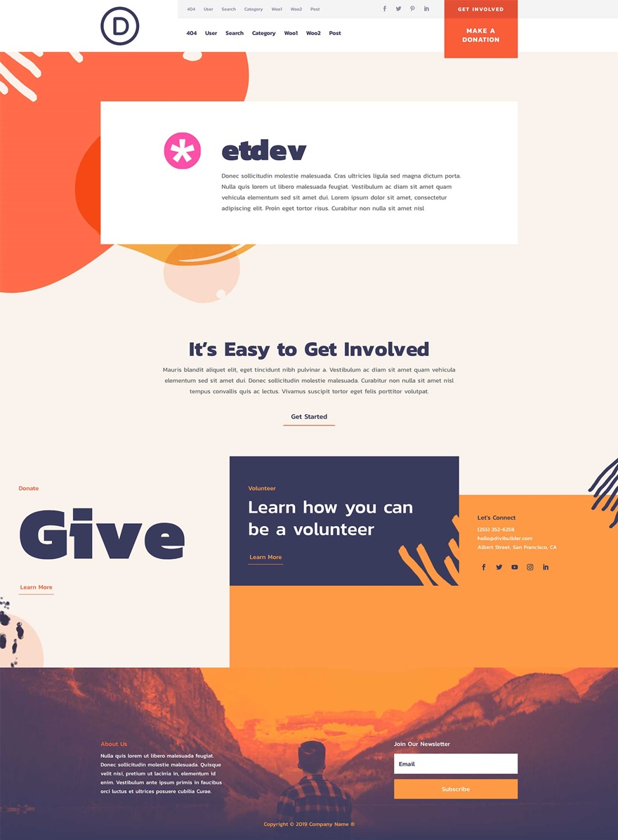 non-profit theme builder pack