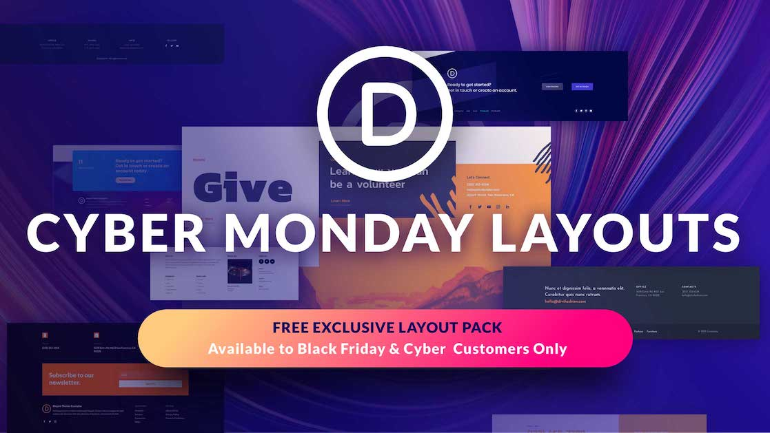 Exclusive Divi Cyber Monday Gift #6: An Impressive Footer Layout Pack