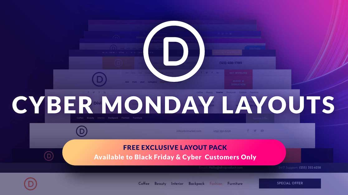 Exclusive Divi Cyber Monday Gift #5: An Outstanding Header Layout Pack