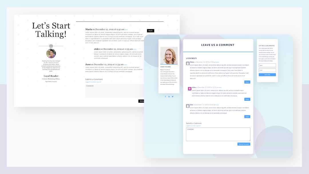 How to Style Divi's Comments Module Inside a Blog Post Template