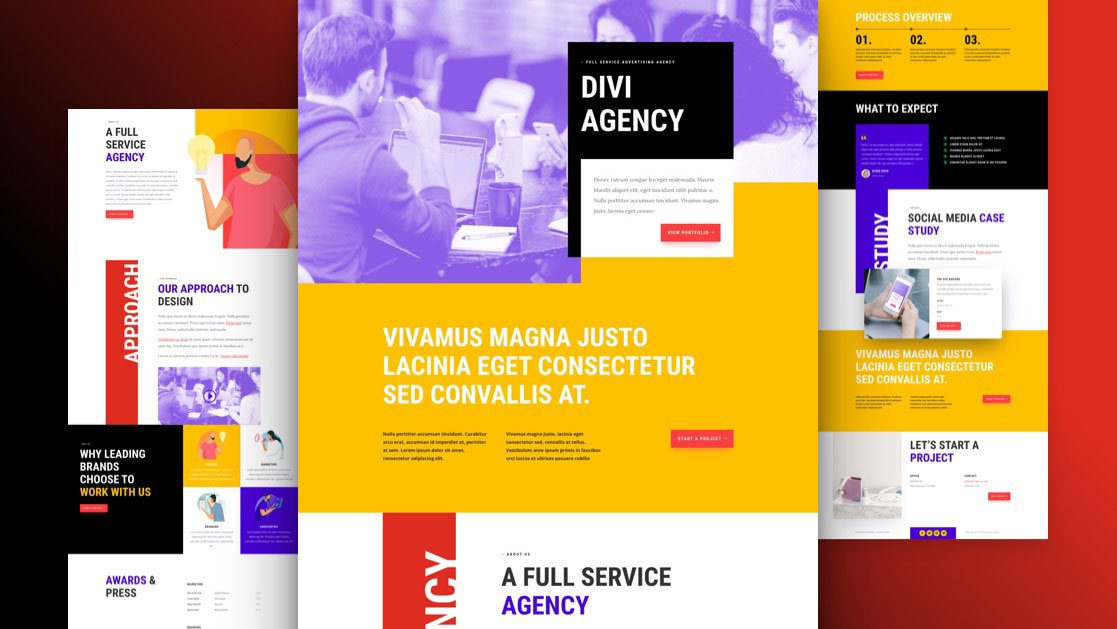 Get a FREE Advertising Agency Layout Pack for Divi