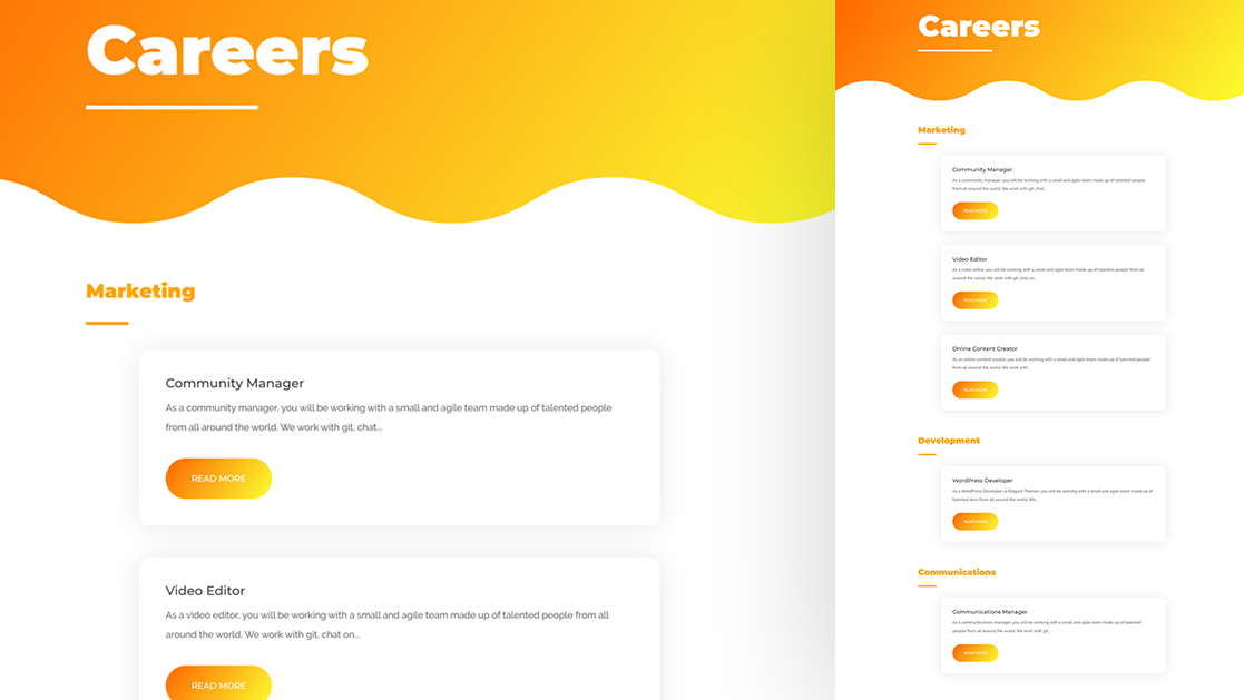 How to Create a Dynamic Careers Job Listing Section with Divi's Blog Module