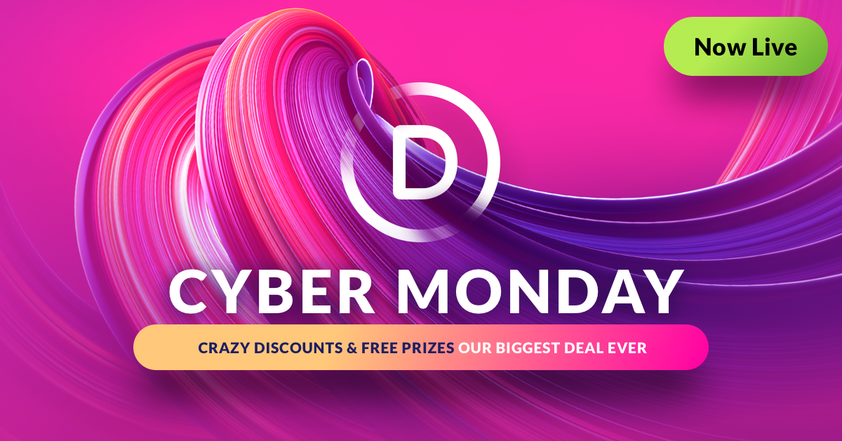 The Divi Cyber Monday Sale Has Begun!