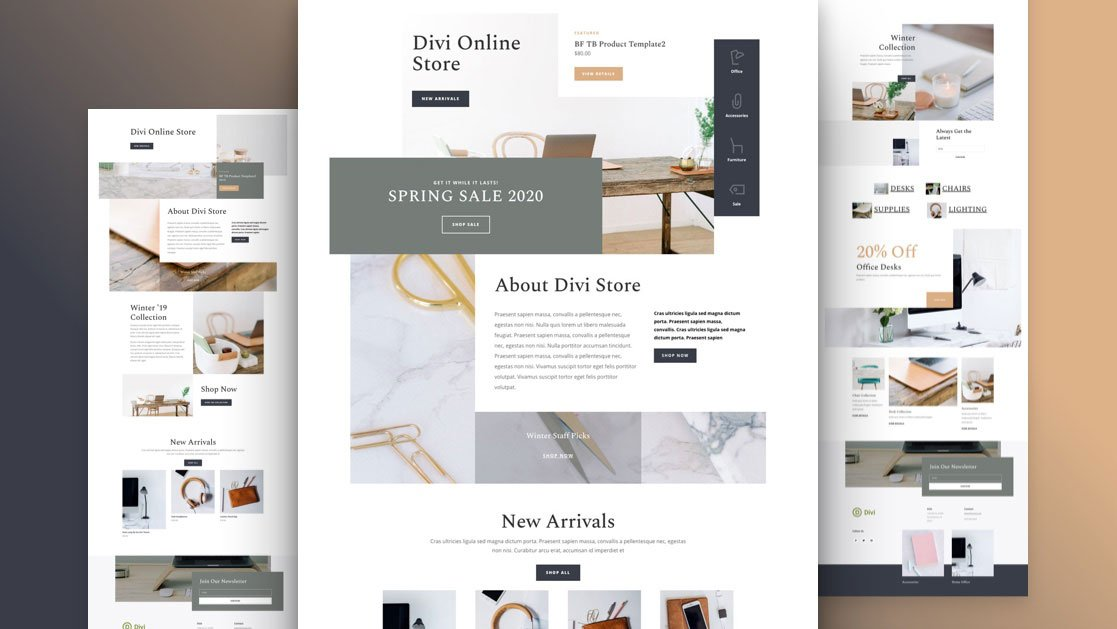 Get a FREE Online Store Layout Pack for Divi