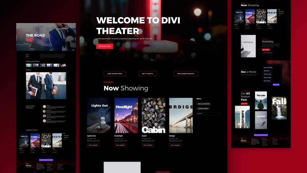 Get a FREE Movie Theatre Layout Pack for Divi