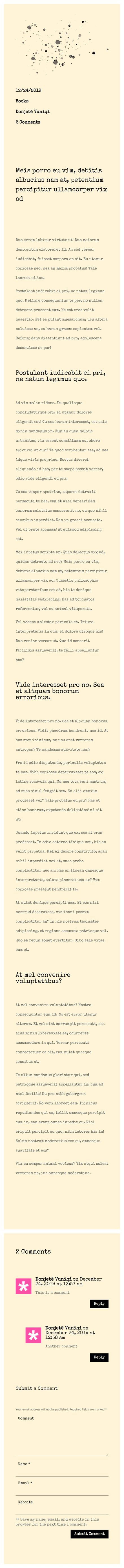 typewriter-inspired blog post template