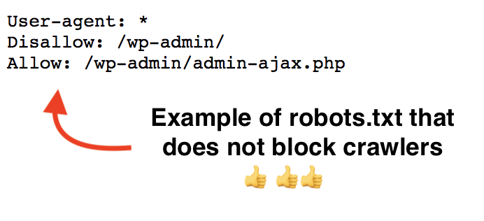 robots.txt file that does not block crawlers