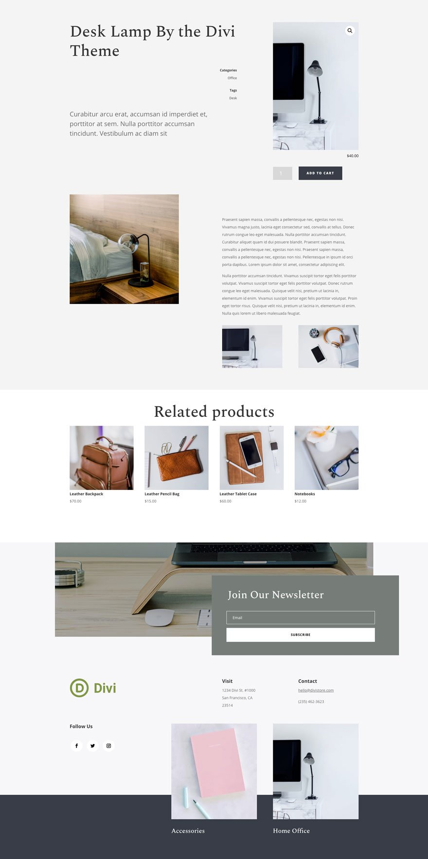 online store layout pack