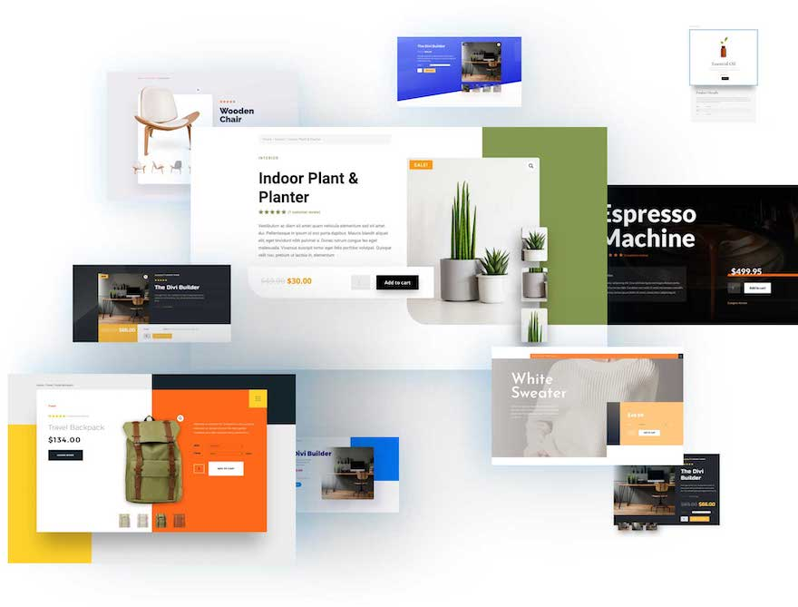 Divi Product Layout Pack