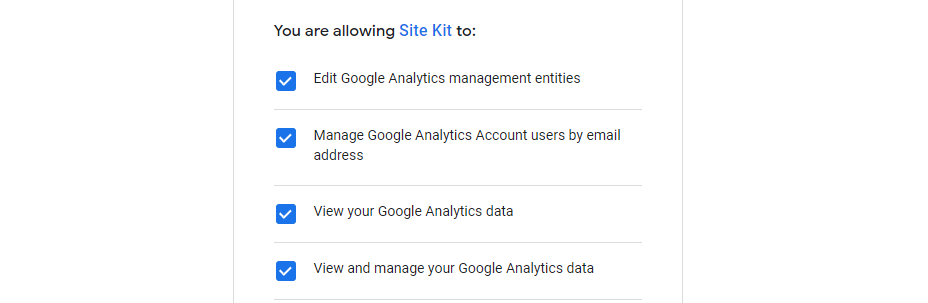 Review Analytics permissions.