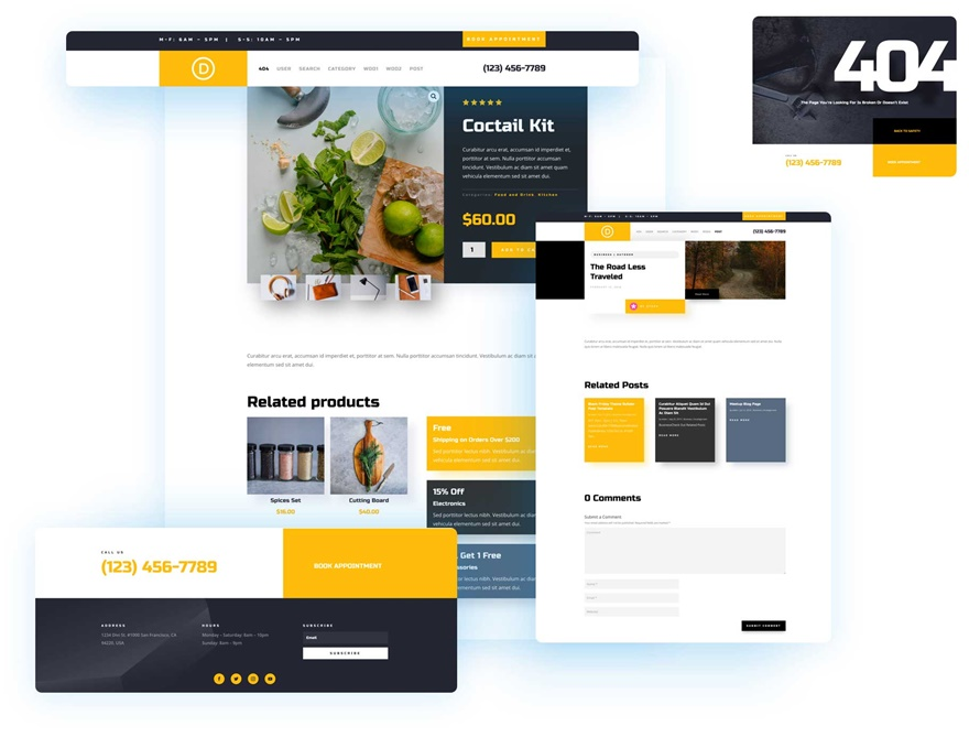 service theme builder pack