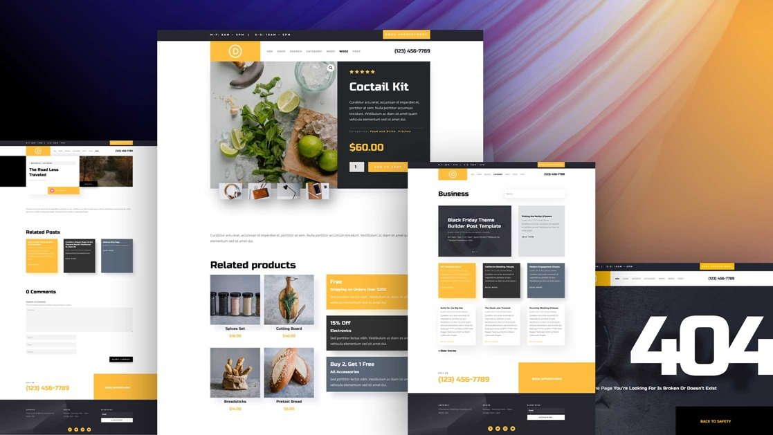 Exclusive Divi Cyber Monday Gift #2: The Service Divi Theme Builder Pack