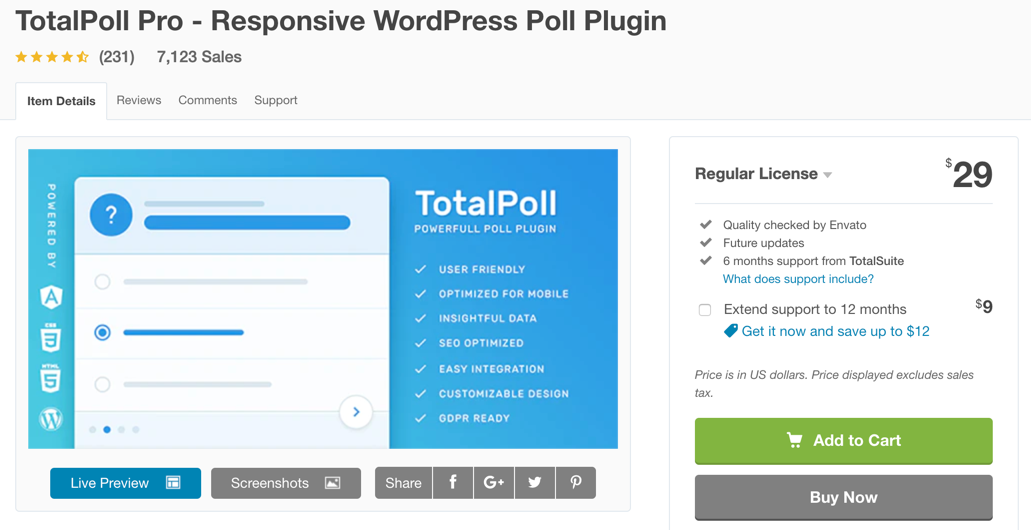 totalpoll wordpress survey plugin