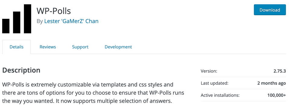 wp-polls wordpress survey plugin