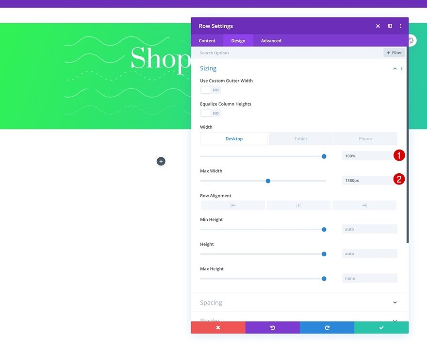 shop module mobile breakpoint