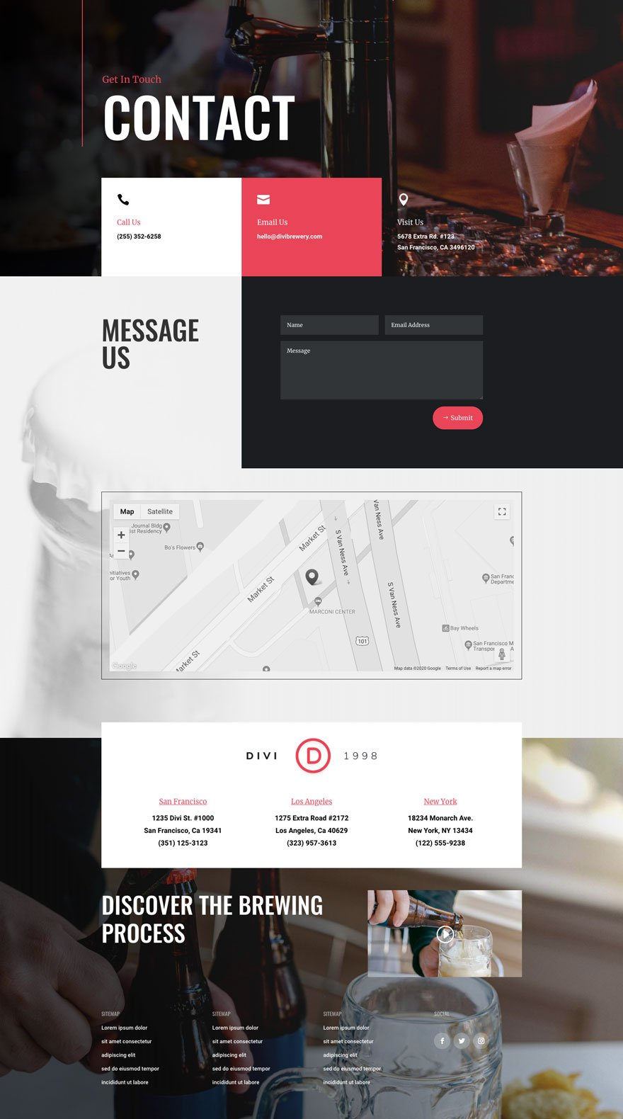 Divi Brewery Layout Pack