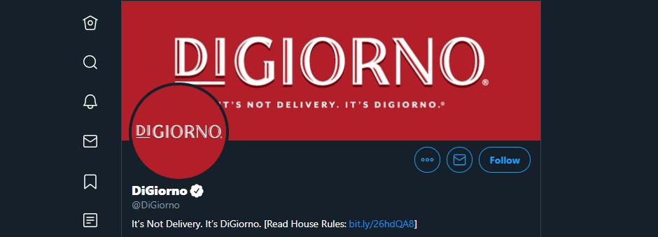 DiGiorno Pizza's Twitter account.