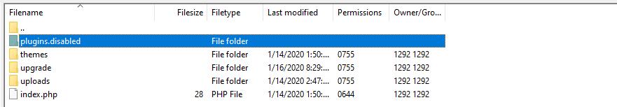 Renaming the plugins folder to fix the HTTP error uploading images to WordPress.