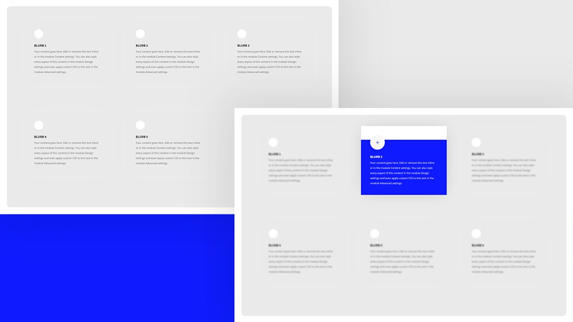 How to Highlight a Hovered Blurb Module by Blurring the Other Ones with Divi