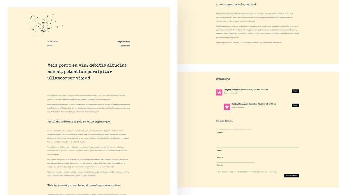 Download a FREE Classic Typewriter-Inspired Blog Post Template for Divi
