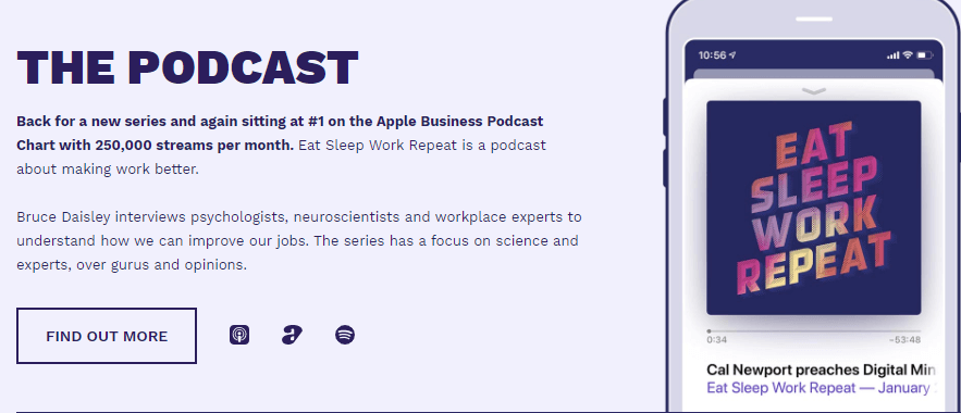 The Eat Sleep Work Repeat podcast.