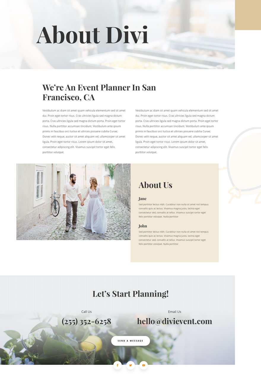 Divi Event Planner Layout Pack