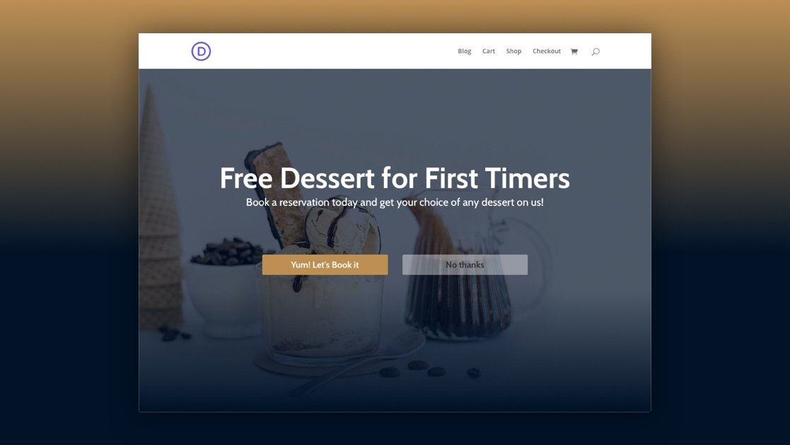 How to Design a Welcome Gate for Your Page in Divi