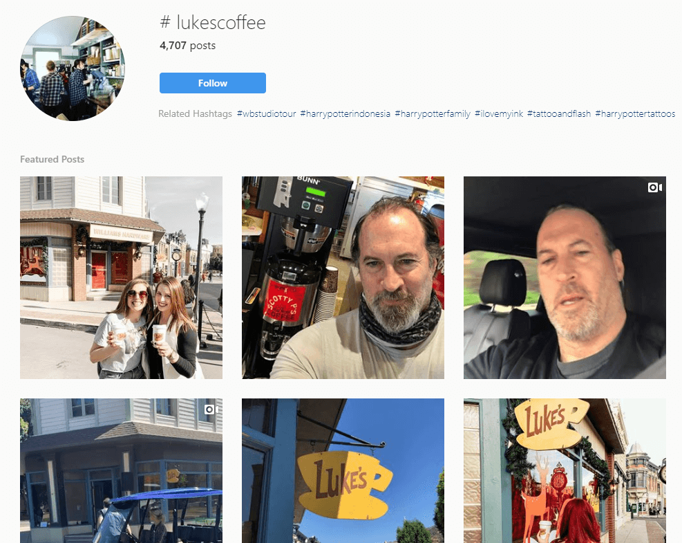 Some social media posts about Luke's coffee.