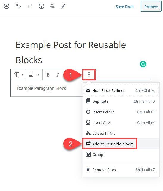 add to reusable blocks