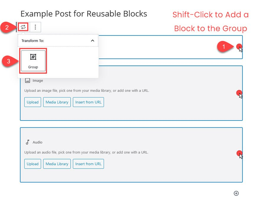 WordPress Reusable Blocks