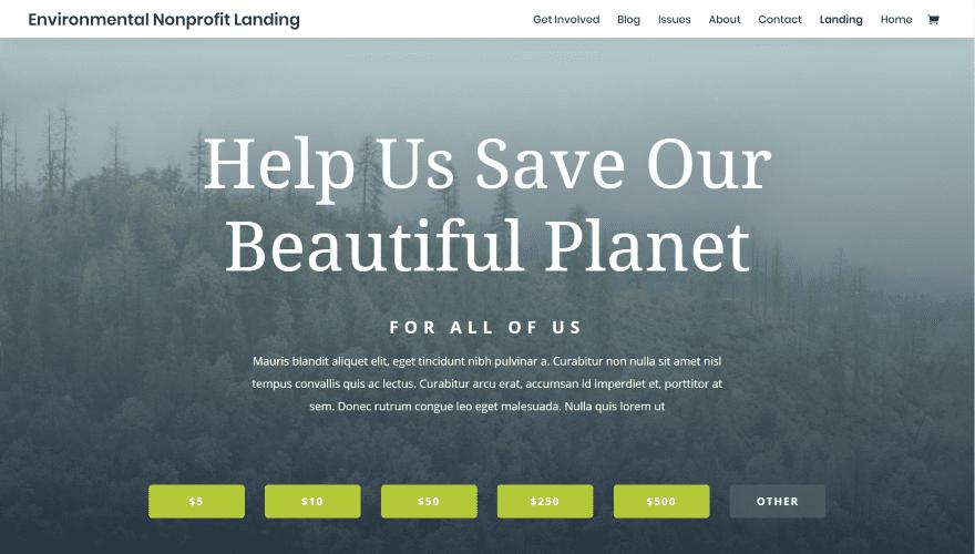 Environmental Nonprofit Layout Pack