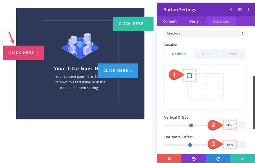 divi button layouts