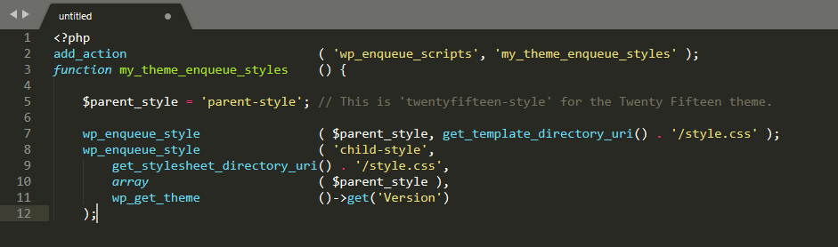 An example of aligned code.