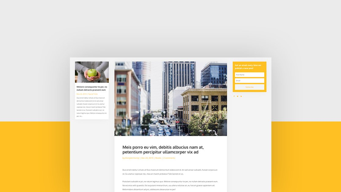 Download a FREE Two-Sided Sidebar Blog Post Template with Divi