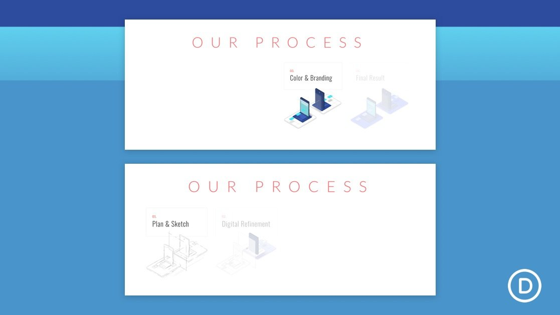 How to Progressively Flash the Steps to a Process with Divi's Scroll Effects