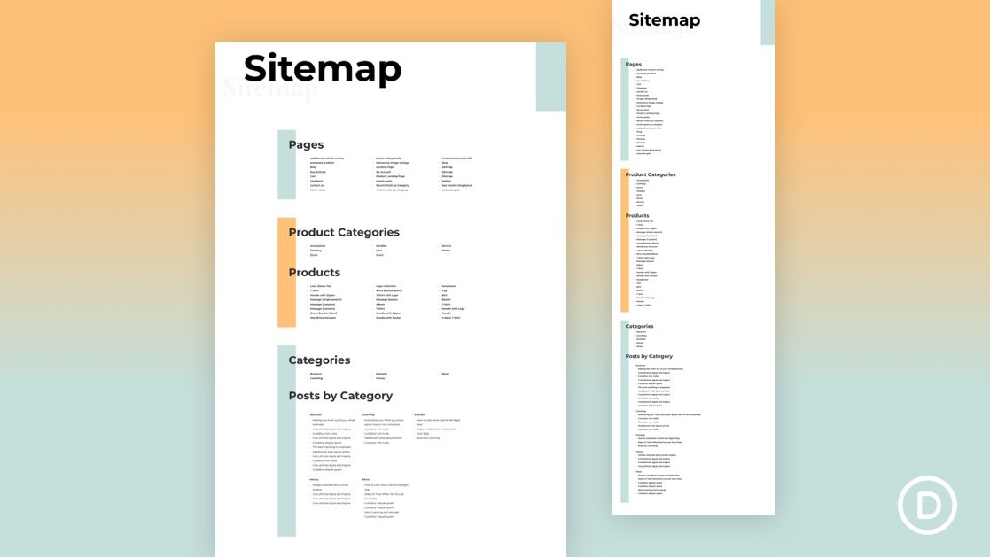 How to Create a Dynamic HTML Sitemap Page in Divi
