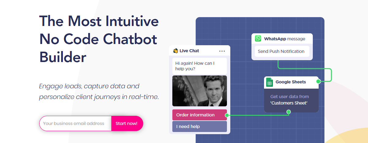 The Landbot.io homepage.